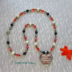 Sportster ~ Glass Heart Jewelry Making Necklace Kit