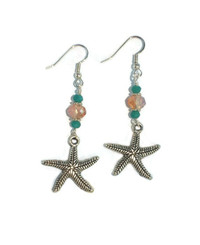 Starfish Crystal Dangle Earring Jewelry Making Step by Step DIY Instruction Kit