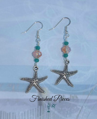 Earrings Starfish Crystal Dangle Finished Pieces Earrings