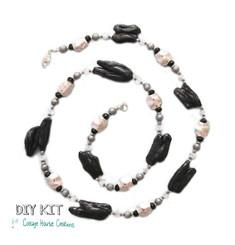 "Biwa Pearl Jewelry Making Supplies Bead DIY Kit Instructions ""NewYork New York"""