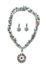 Soleil Pendant Double Strand Beaded Jewelry Making Kit Necklace & Earring