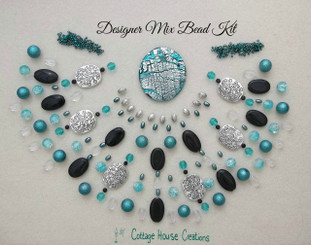 Reflections Glass Foiled Pendant Designer Mix Bead Kit