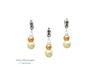 Candy Corn Pearl Euro Dangles European Charms