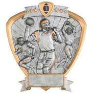 "8"" Football Shield Resin"