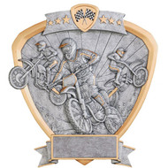 "8"" Motocross Shield Resin"