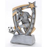 """6"""" Soccer 3-D Star Resin"""