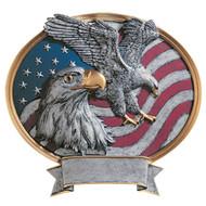 "8"" Oval Eagle USA Resin"