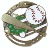 "2¾"" Baseball Color Sport Medal"