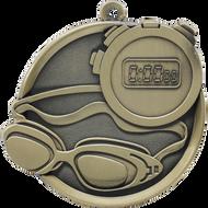 "2¼"" Swimming Mega Medal"