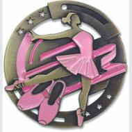 """2¾"""" Ballet Color Sport Medal"""