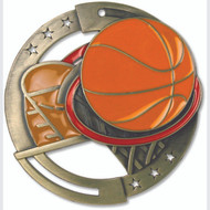 """2¾"""" Basketball Color Sport Medal"""