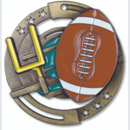 "2¾"" Football Color Sport Medal"
