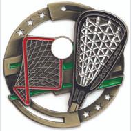 "2¾"" Lacrosse Color Sport Medal"