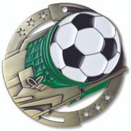 """2¾"""" Soccer Color Sport Medal"""