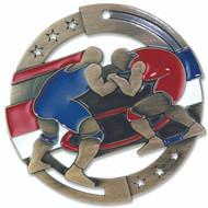 """2¾"""" Wrestling Color Sport Medal"""