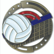 "2¾"" Volleyball Color Sport Medal"