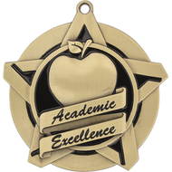 "2¼"" Academic Excellence Super Star Medal"