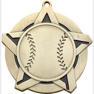 """2¼"""" Baseball Super Star Medal"""