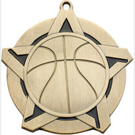 "2¼"" Basketball Super Star Medal"
