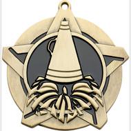 "2¼"" Cheer Super Star Medal"