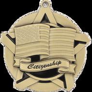 "2¼"" Citizenship Super Star Medal"
