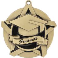 "2¼"" Graduate Super Star Medal"
