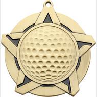 "2¼"" Golf Super Star Medal"