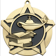 "2¼"" Lamp of Knowledge Super Star Medal"