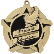 "2¼"" Physical Education Super Star Medal"