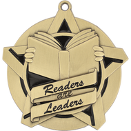 "2¼"" Reading Leader Super Star Medal"
