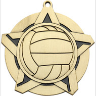 "2¼"" Volleyball Super Star Medal"