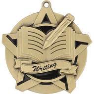 "2¼"" Writing Super Star Medal"