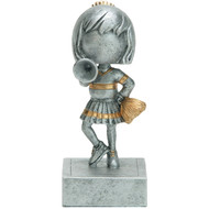 "5½"" Cheerleader Bobblehead Resin"