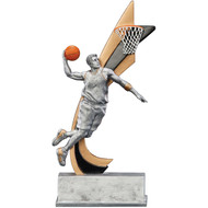 "8"" Basketball Live Action Resin"