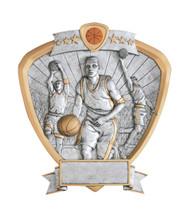 "8"" Basketball Shield Resin"