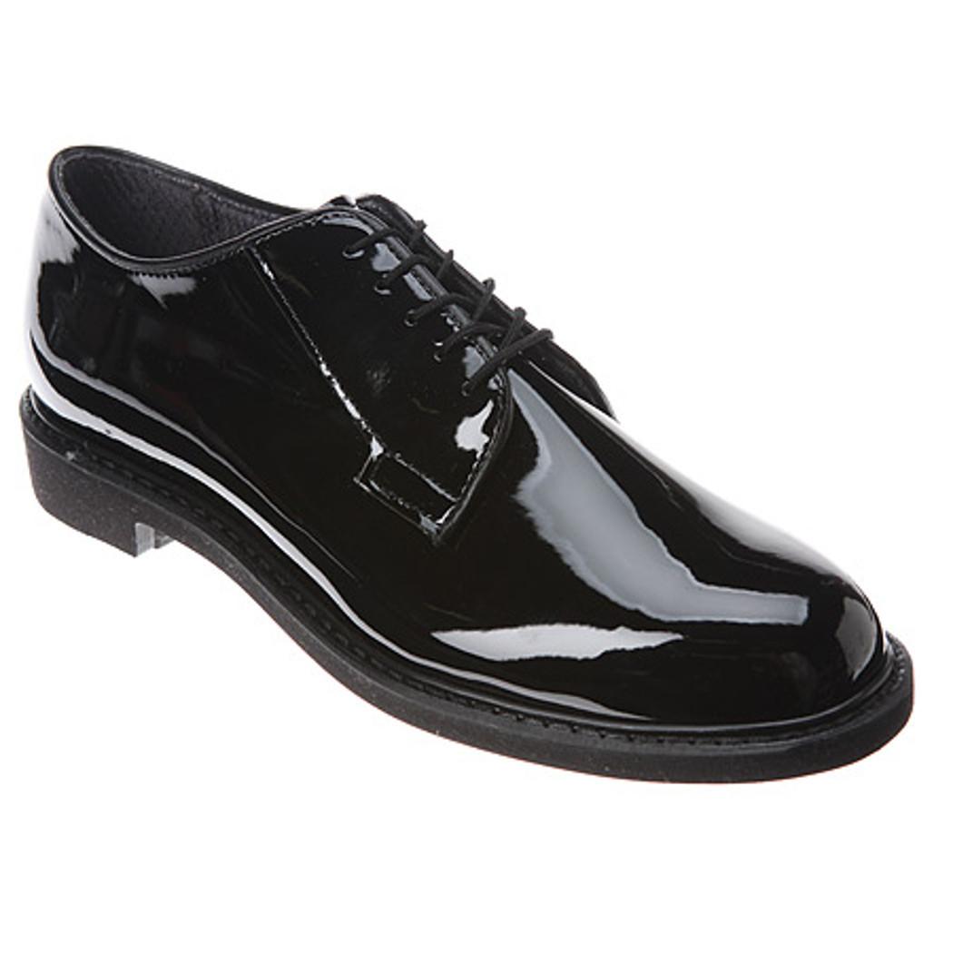 3c207b99f7b Bates 1301-B Mens High Gloss Durashocks Oxford Shoes