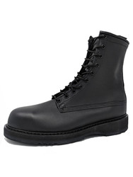"Bates 1950-B Mens 8"" Army/Navy Black Steel Toe Boot"