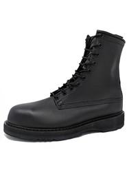 "Bates 1950-B Mens 8"" Army/Navy Black Steel Toe Boot"