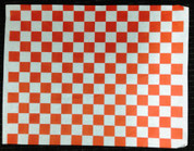 Greaseproof Paper - Printed Red Check Style - Food Grade - NEW LINE