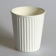 Detpak 8oz Ripple Cups White