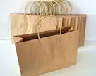Extra Large Paper Carry Bags with Twist Handle - Brown