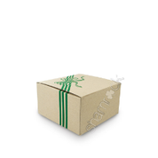 "8"" Brown Printed Cake Box HD - Green"