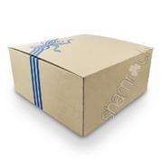 "12"" Brown Printed Cake Box HD - Blue"