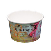 8oz La Fruitatta Printed Ice Cream Cups