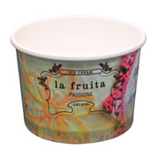 16oz La Fruitatta Printed Ice Cream Cups