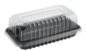 CA-CVBAR Clearview Bar Cake Combo-Pak - Black Base + Clear Lid