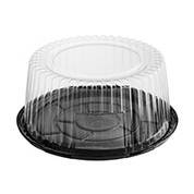 CA-CVCD100 Clearview P.E.T Cake Container Combo-Pak - 100mm high
