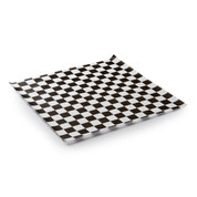 Greaseproof Paper - Printed Black and White Check Style - Food Grade - NEW LINE