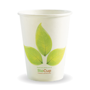 BC-12  12oz Single Wall BioCup Leaf Design