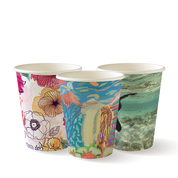 BC-80-ART 8oz Single Wall BioCup Art Series